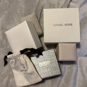 Bundle of empty jewelry boxes
